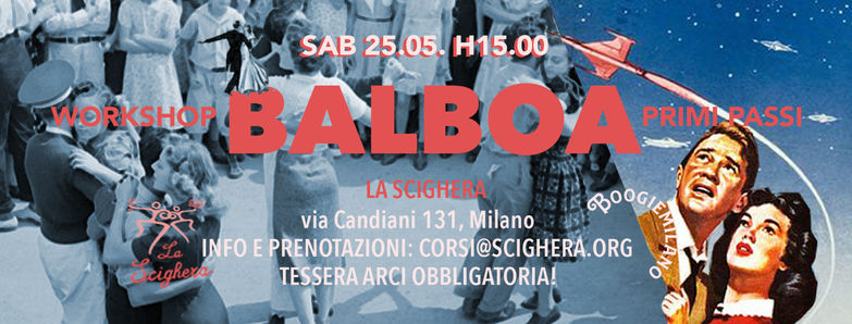 "25.05.19 Workshop ""Balboa"" per principianti"